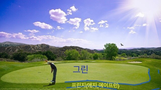 골프 용어 정리 - 그린
